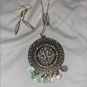 Jewelry - Matching earrings and necklace